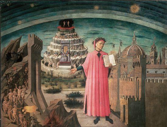 1310690 domenico di michelino dante expliquant la divine comedie
