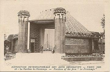 360px paris fr 75 expo 1925 arts decoratifs pavillon du printemps