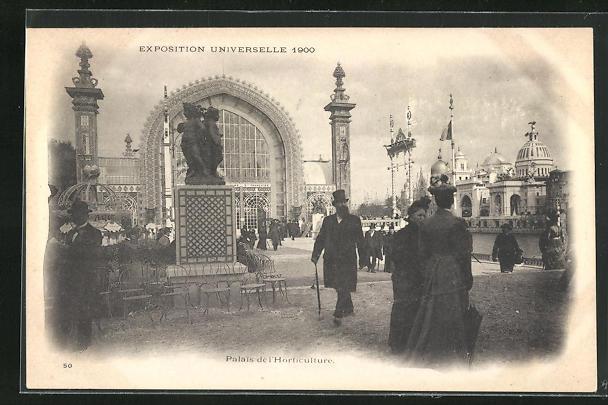 Ak paris exposition universelle de 1900 palais de l horticulture