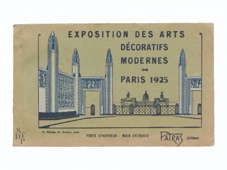 Exposition des arts decoratifs modernes paris 1925 patras souviens toi de paris vintage postcard vue 0