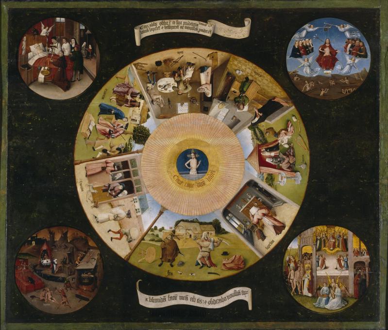 Hieronymus bosch les sept pc3a9chc3a9s capitaux et les quatre dernic3a8res c3a9tapes humaines