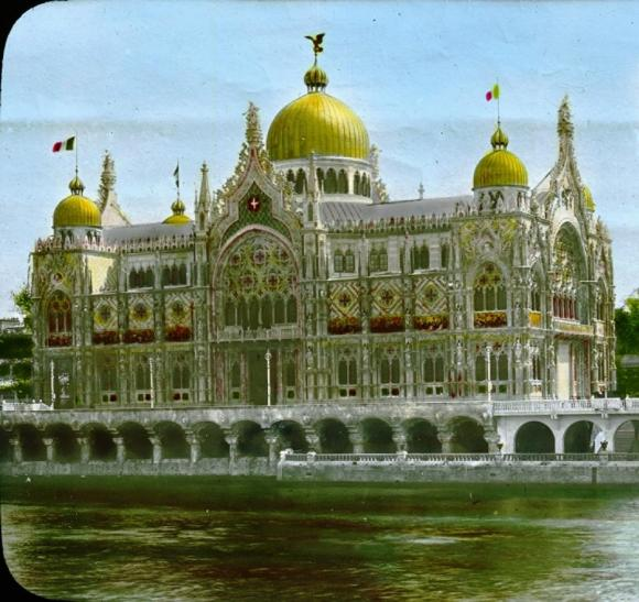 Le pavillon de l italie a l exposition universelle de paris en 1900