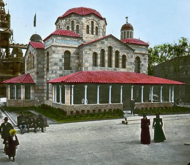 Le pavillon de la grece a l exposition universelle de paris en 1900