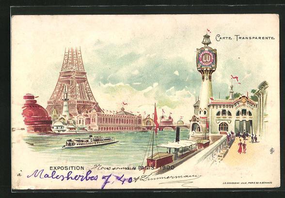 Lithographie paris exposition universelle de 1900 lefevre utile halt gegen das licht1