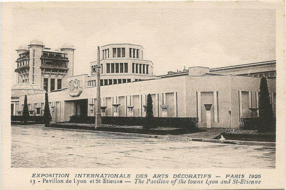 Paris fr 75 expo 1925 arts decoratifs pavillon de lyon saint etienne