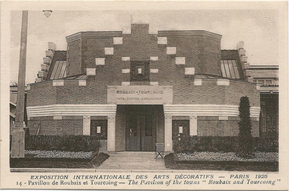 Paris fr 75 expo 1925 arts decoratifs pavillon de roubaix tourcoing