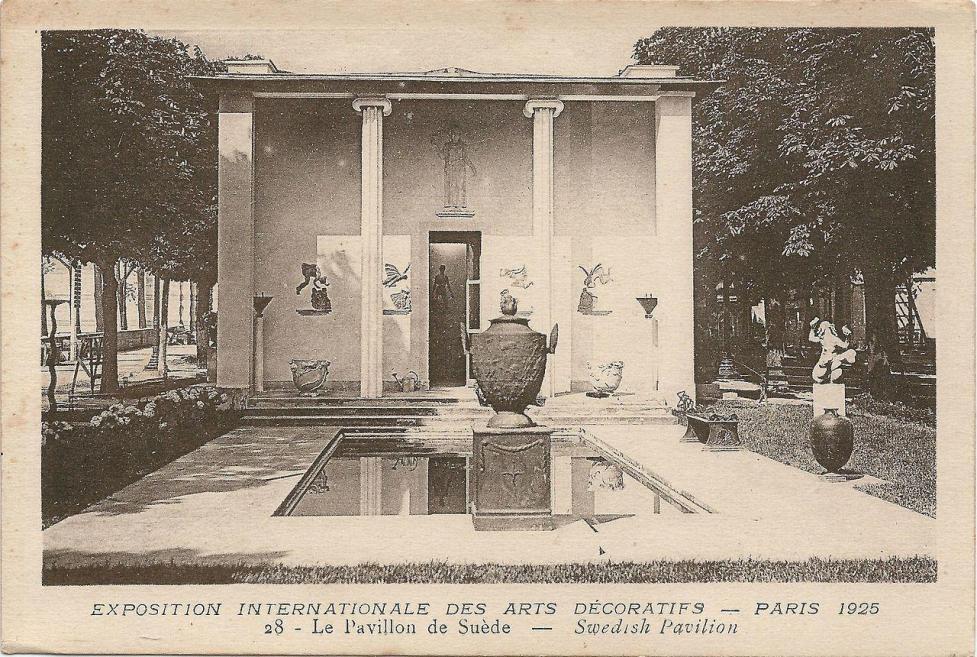 Paris fr 75 expo 1925 arts decoratifs pavillon de suede