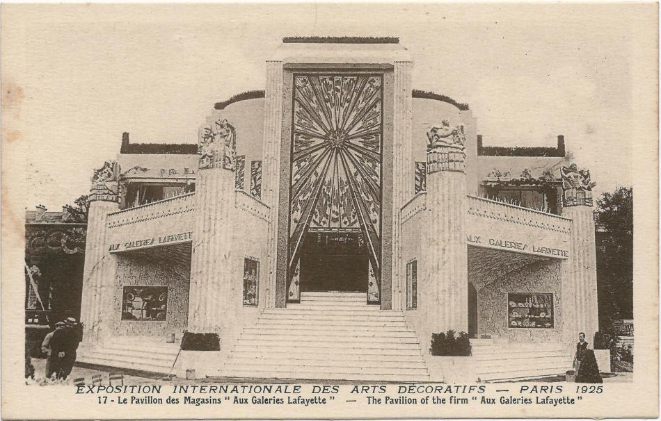 Paris fr 75 expo 1925 arts decoratifs pavillon des galeries lafayette