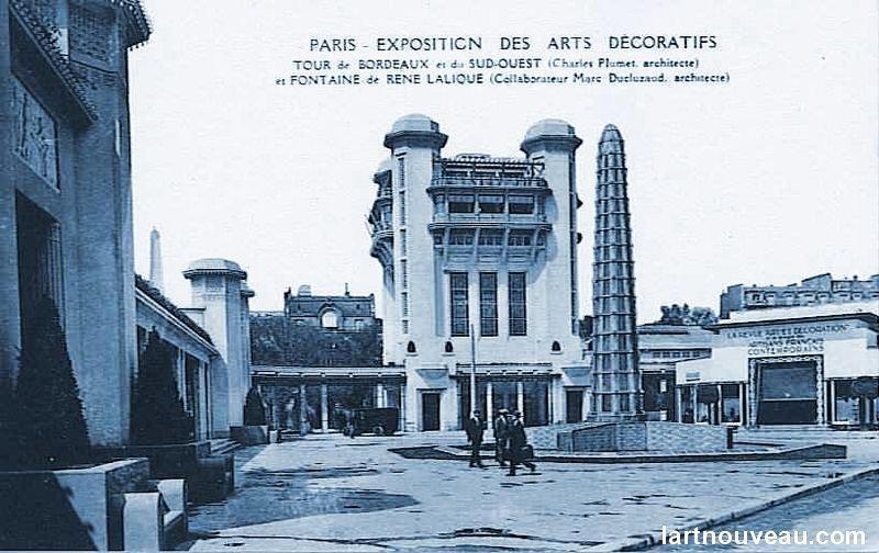 Tour de bordeaux et du sud ouest fontaine rene lalique