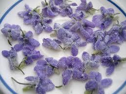 Violettes cristallisees