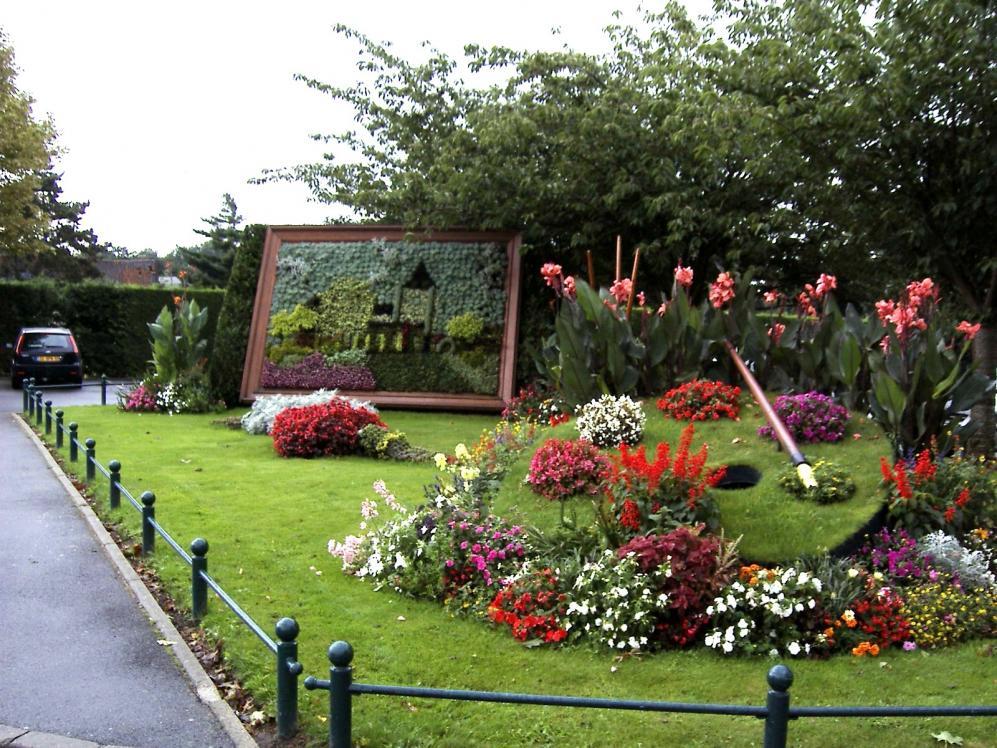 Wattignies ville fleurie tableau representant l eglise saint lambert 1